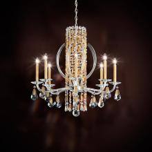 Crystal chandeliers lighting fixtures lighting palace sarella 8 light 110v chandelier in antique silver with crystal heritage crystal 1hwjvf aloadofball Image collections