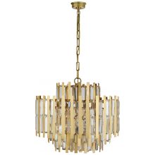 Visual Comfort ARN 5145HAB-CG - Ambrois Medium Chandelier in Hand-Rubbed Antique