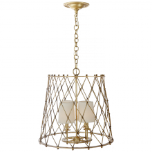 Visual Comfort ARN 5210G-L - Edgerly Large Woven Lantern in Gilded with Linen