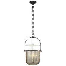 Visual Comfort CHC 2269AI-MG - Lorford Small Smoke Bell Lantern in Aged Iron wi