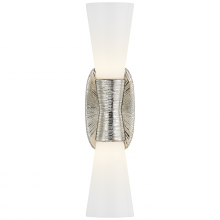 Visual Comfort KW 2047PN-WG - Utopia Small Double Bath Sconce in Polished Nick