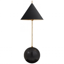 Visual Comfort KW 3118AB/BLK - Cleo Orb Base Accent Lamp in Antique-Burnished B