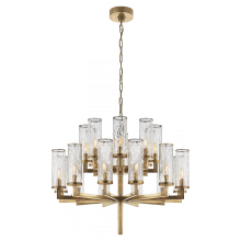 Visual Comfort KW 5201AB-CRG - Liaison Double Tier Chandelier in Antique-Burnis