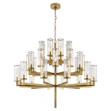 Visual Comfort KW 5202AB-CRG - Liaison Triple Tier Chandelier in Antique-Burnis
