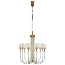 Visual Comfort KW 5401CRB/AB - Reverie Medium Single Tier Chandelier in Clear R