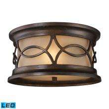 ELK Lighting 41999/2-LED - Burlington Junction 2-Light Outdoor Flush Mount in Hazelnut Bronze - Includes LED Bulbs